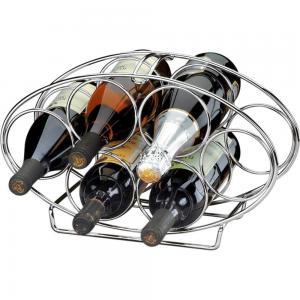 Adega Oval Para Vinhos 6 Garrafas Em Inox