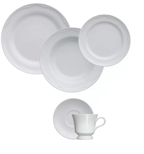 aparelho de jantar e chá 30 peças cottage germer