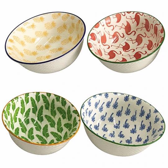 conjunto de 4 bowls ceramica color btc