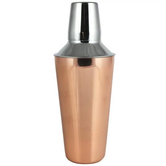 coqueteleira 500ml inox com bronze mimo style