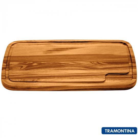 tabua retangular de madeira tramontina