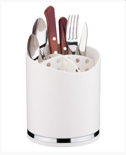 suporte para utensilios e talheres branco future