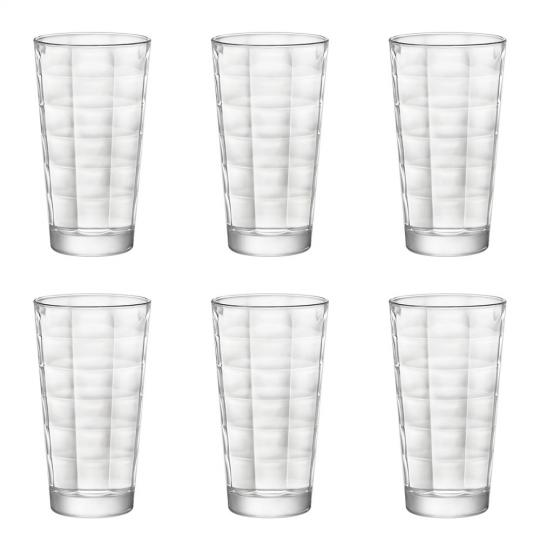 jogo de 6 copos long drink cube 375ml dayhome