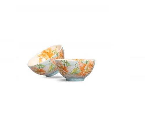 jogo de 6 bowls cereal lily flower scalla //*