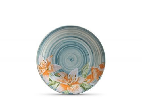 jogo de 6 pratos rasos lily flower scalla //*