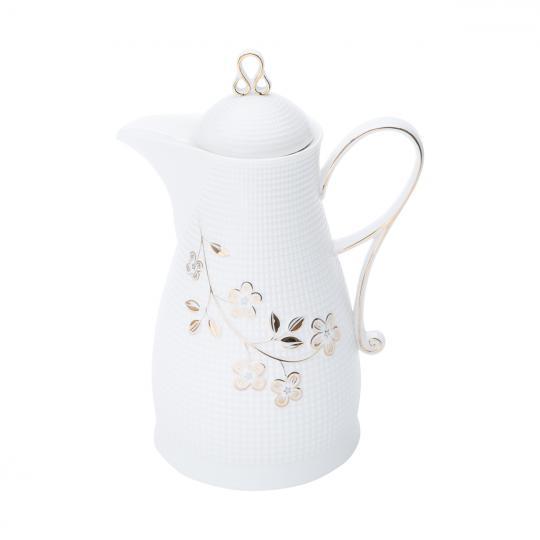 garrafa termica porcelana flores 650ml rojemac