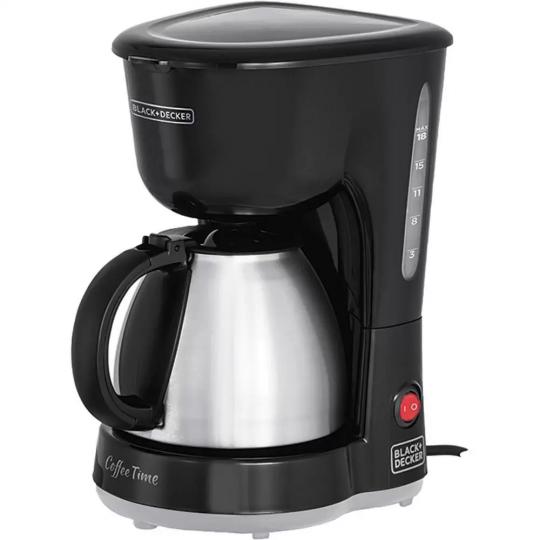 cafeteira elétrica 18 xícaras 600w black&decker /*