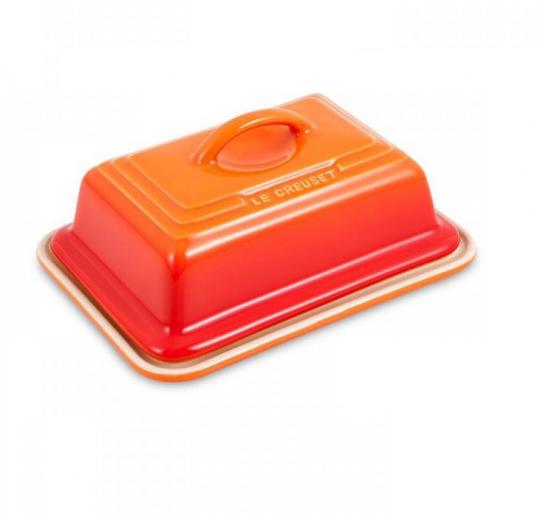 manteigueira retangular laranja le creuset