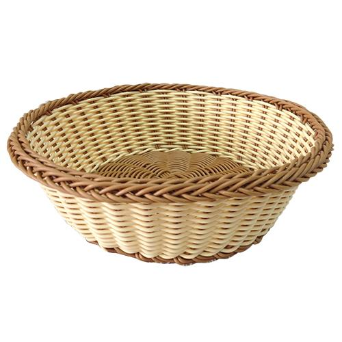 cesta em polipropileno 24x8cm cafe e bege dynasty