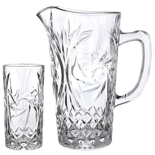 jogo jarra c/6 copos hurricane lhermitage