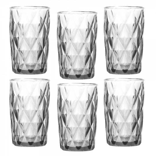 jogo de 6 copos diamond transparente dynasty