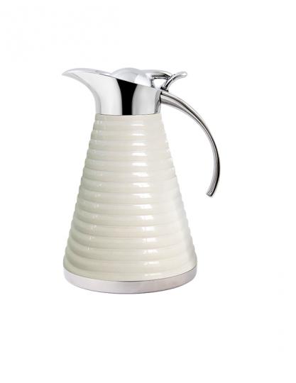 garrafa termica studio café inox e branca 1l  fracalanza
