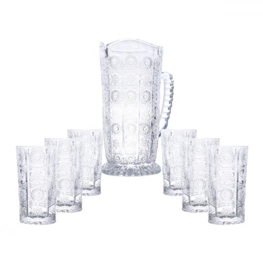 conjunto de 06 copos e jarra 1,38l starry wolff
