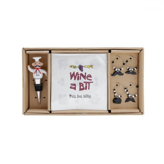 kit vinho cheff bon gourmet
