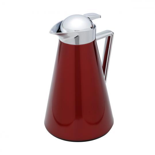 garrafa termica wolff de metal london vermelha 1l