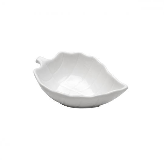 conjunto com 4 bowls folha leaf branca bon gourmet