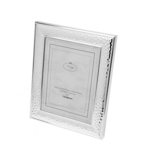 porta retrato em metal prata 20x25 cm