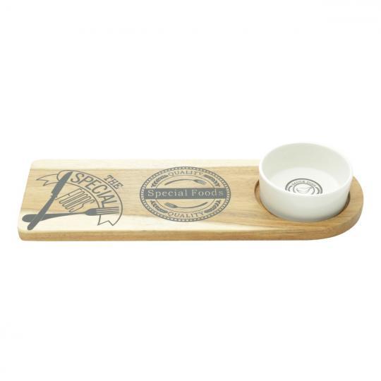 conjunto de queijo 2 peças madeira bon gourmet