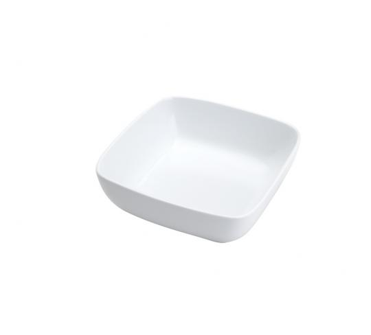 bowl quadrado porcelana 20x7cm