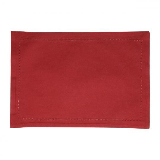 jogo americano com 6 unidades ajour algodão vermelho 45x33 cm bon gourmet