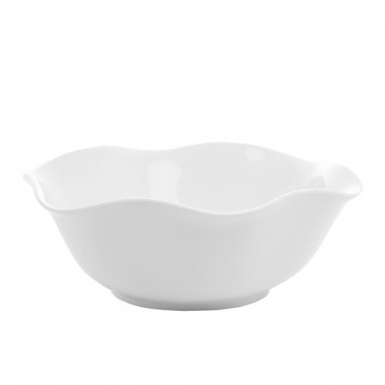saladeira em porcelana branca 29x9 cm bon gourmet