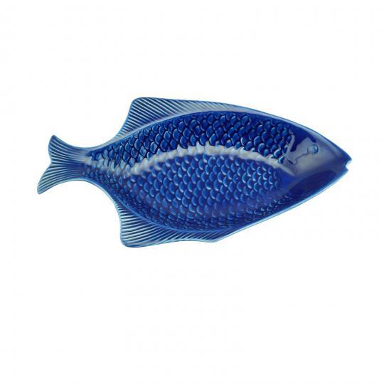travessa peixe ocean azul 37x20 cm bon gourmet