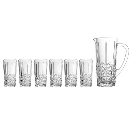 conjunto de jarra com 6 copos