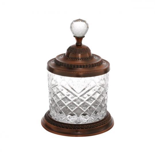 pote cristal e zamac bronze 13x19cm  lyor