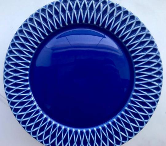 jogo 6 pratos sobremesa liso palm beach azul scalla