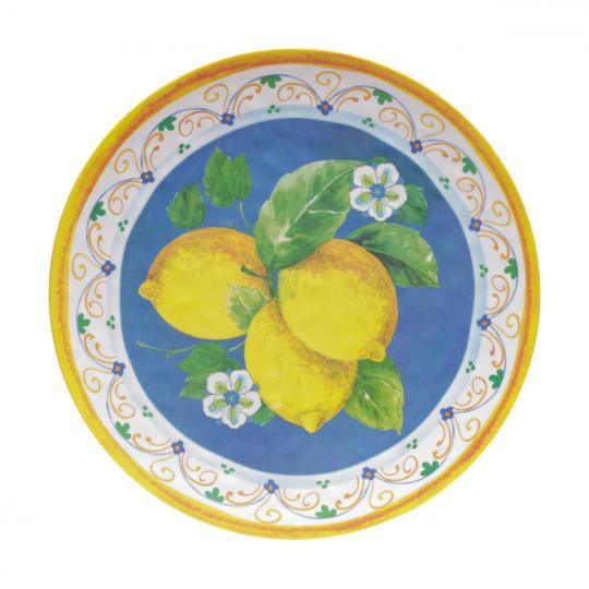 travessa lemons redonda de melamina 41cm