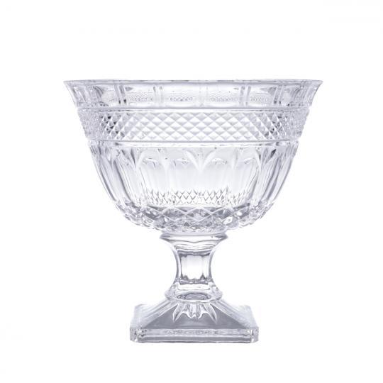 fruteira brandon com pe cristal 26cm