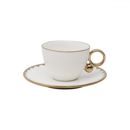 jogo de 6 xícaras de chá  porcela egg wolff