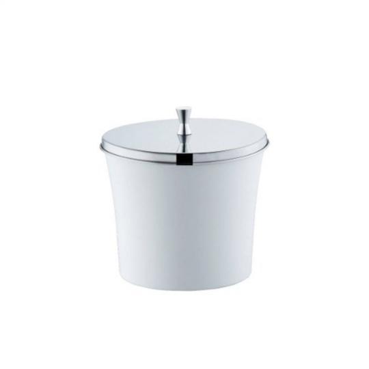 lixeira branca 3 litros clássica forma inox