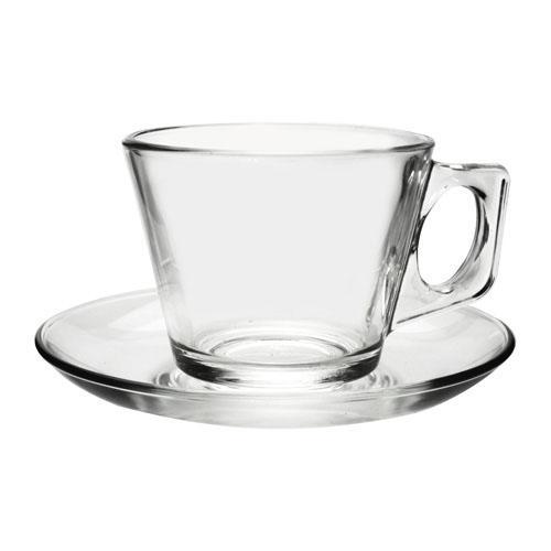 JOGO 6 XÍCARAS DE CAFE EM VIDRO VELA PASABAHCE