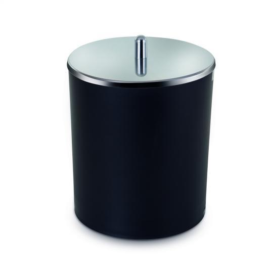 lixeira preta 5l forma inox