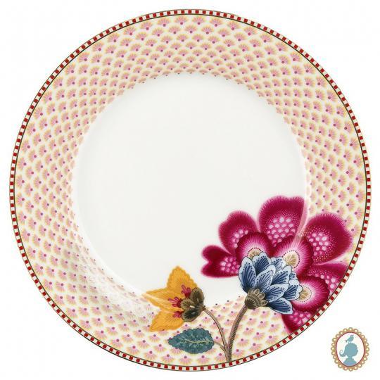 prato sobremesa floral fantasy branco unitário pip studio