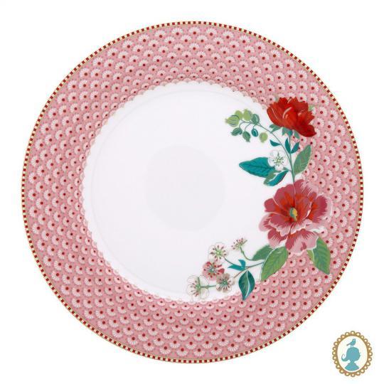 prato raso floral rose rosa unitário pip studio
