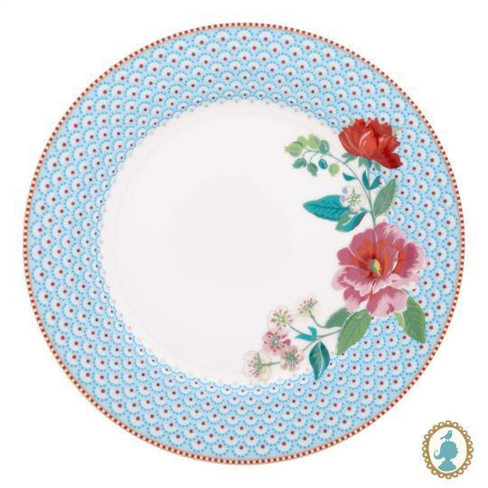 prato raso floral rose azul unitário pip studio