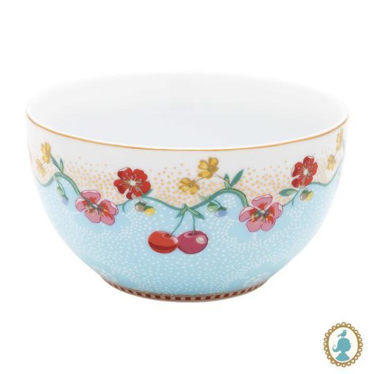 bowl floral cherry azul 12 cm pip studio