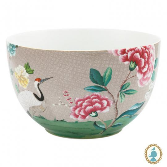 tigela blushing birds caqui 23cm pip studio
