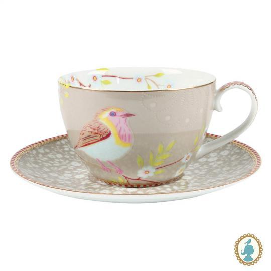 xicara de chá early bird caqui unitário pip studio