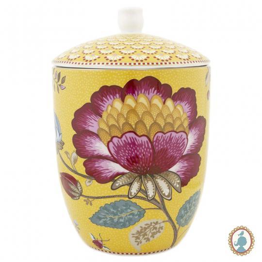 pote floral fantasy amarelo pip studio