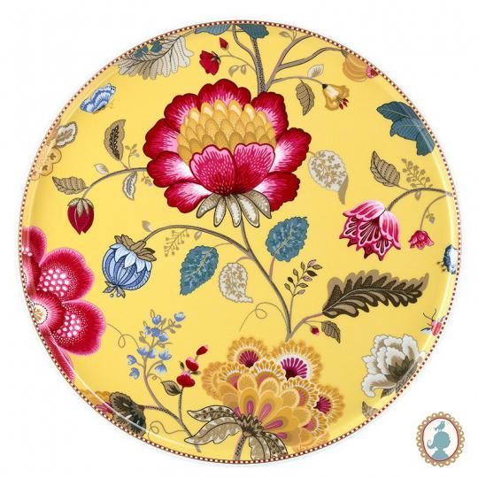 prato bolo floral fantasy amarelo pip studio