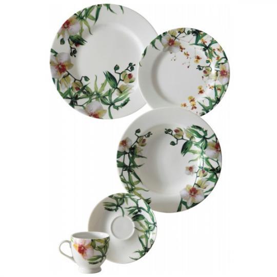 aparelho de jantar 24 peças orquídeas constanza pascolato copa&cia