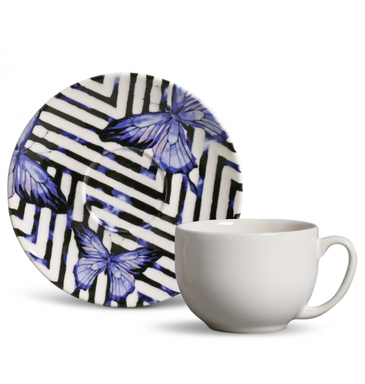 jogo 6 xícaras de chá coup papillon  porto brasil