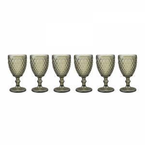 jogo de 6 copos bico abacaxi vidro btc
