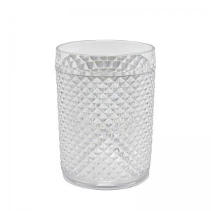 copo baixo bico jaca em acrílico transparente 410ml dynasty
