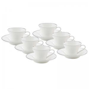 conjunto de 6 xicaras de café com pires conthey