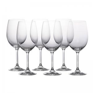 jogo de 6 taças vinho tinto roberta 350ml bohemia