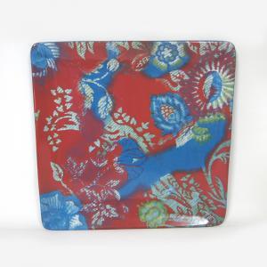 prato de servir quadrado ceramica meadows 31,5cm vermelho stock house